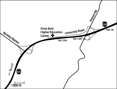 Beckley Campus Map