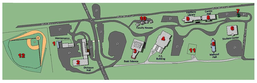 Bluefield Campus Map