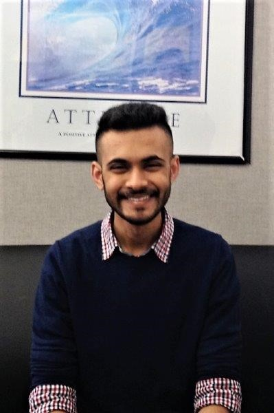 BSC student Syed Monis Ali    2019-20 Newman Civic Fellow