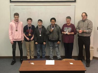 Bluefield Middle School is pictured after winning the regional MATHCOUNTS competition at Bluefield State College