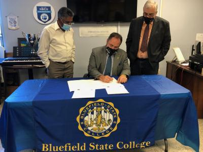 Bluefield State College has entered into a formal Memorandum of Understanding (MOU) with the Higher Institute of Advanced Technology and Management (ISTAMA) in Douala, Cameroon