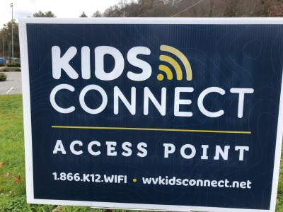 "A ""Kids Connect"" Wi-Fi hotspot is now in operation at Bluefield State College, in the baseball field parking lot."