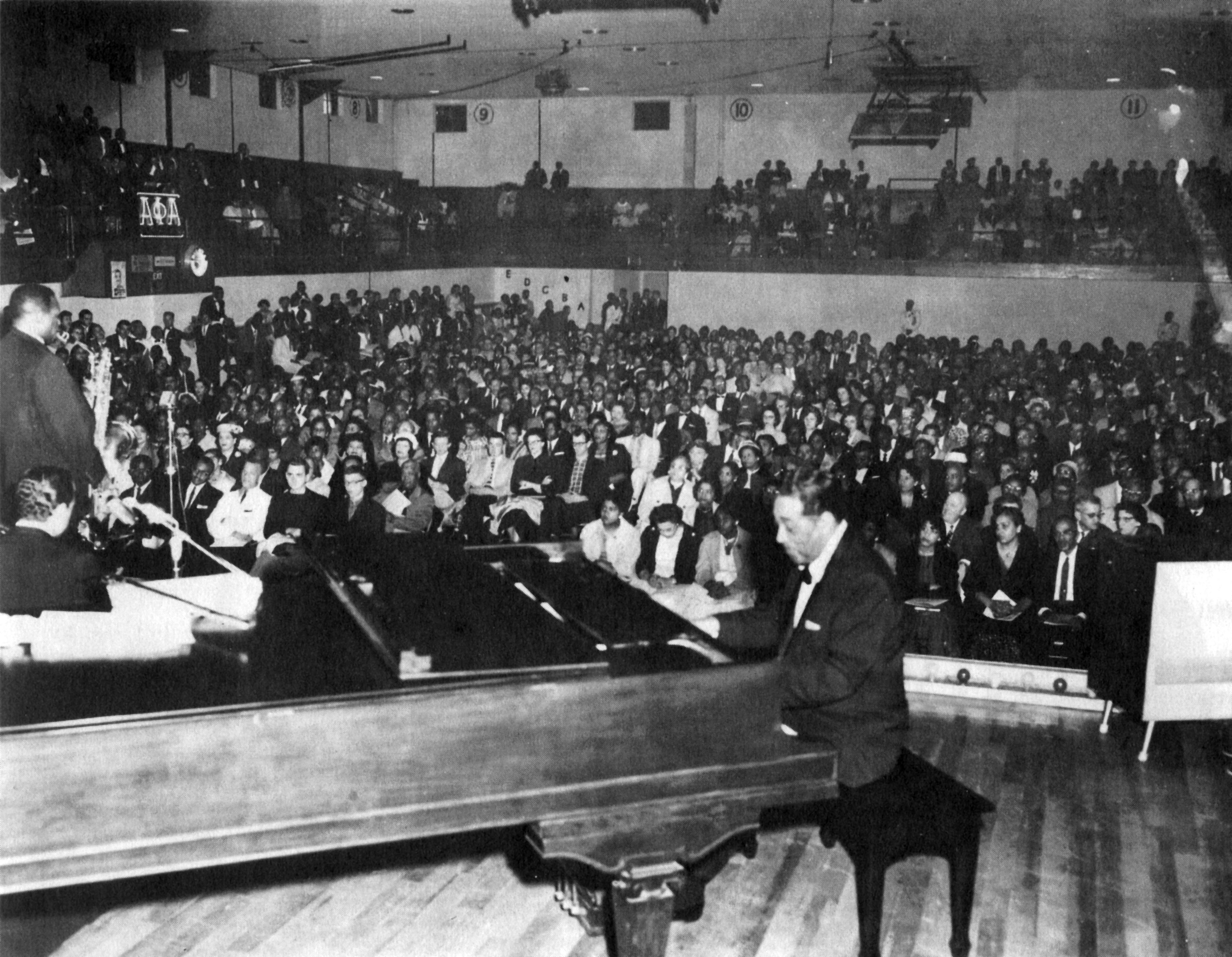 Duke Ellington plays at Bluefield State College.