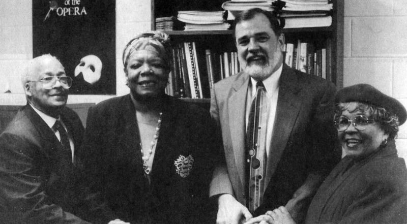 Dr. Maya Angelou visits Bluefield State College