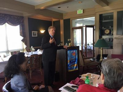 Robin Capehart, Bluefield State College Interim President, was the program speaker at the April 18 meeting of the Bluefield, VA Rotary Club at Fincastle Country Club