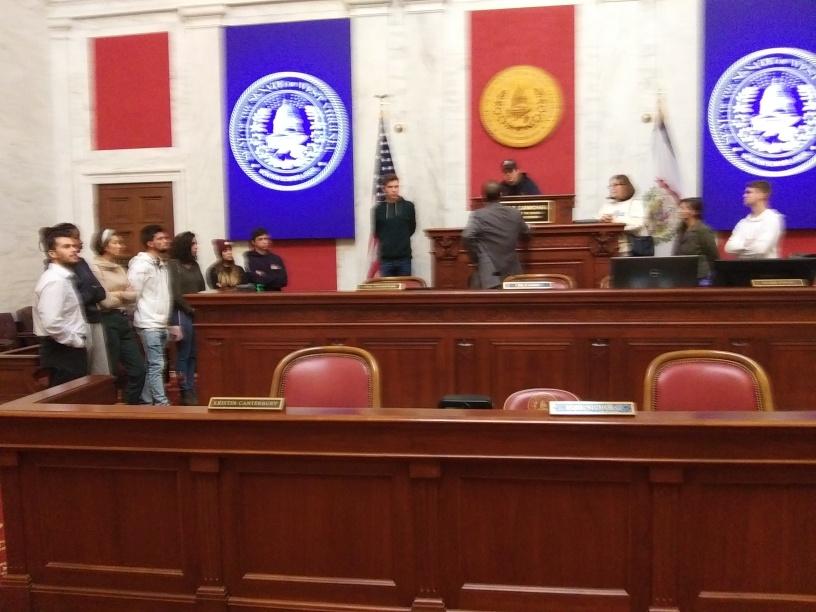 International Students in WV Legislature Chamber